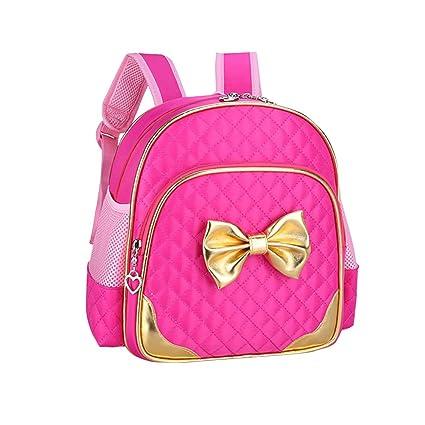 6e3427c40a8 DuuToo Waterproof Kindergarten Kids Toddler Backpacks Cute Nursery school  Backpacks Girls School Book Bag (Rose Red)  Amazon.ca  Luggage   Bags