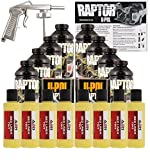 U-POL Raptor Safety Yellow Urethane Spray-On Truck Bed Liner Kit w/ Free Spray Gun, 8 Liters