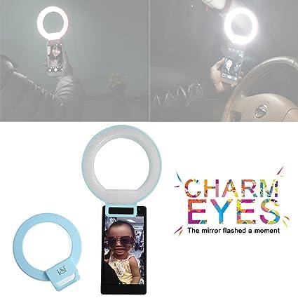 Mini Portátil LED Selfie Flash relleno luz teléfono móvil cámara ...
