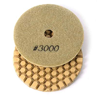 "Specialty Diamond BRTD43000 4"" Dry Concrete Polishing DHEX Pad, 6mm - 3000 Grit: Home Improvement"