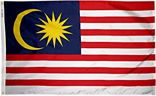 product image for Annin Flagmakers Model 195283 Malaysia Flag 3x5 ft. Nylon SolarGuard Nyl-Glo 100% Made in USA to Official United Nations Design Specifications.