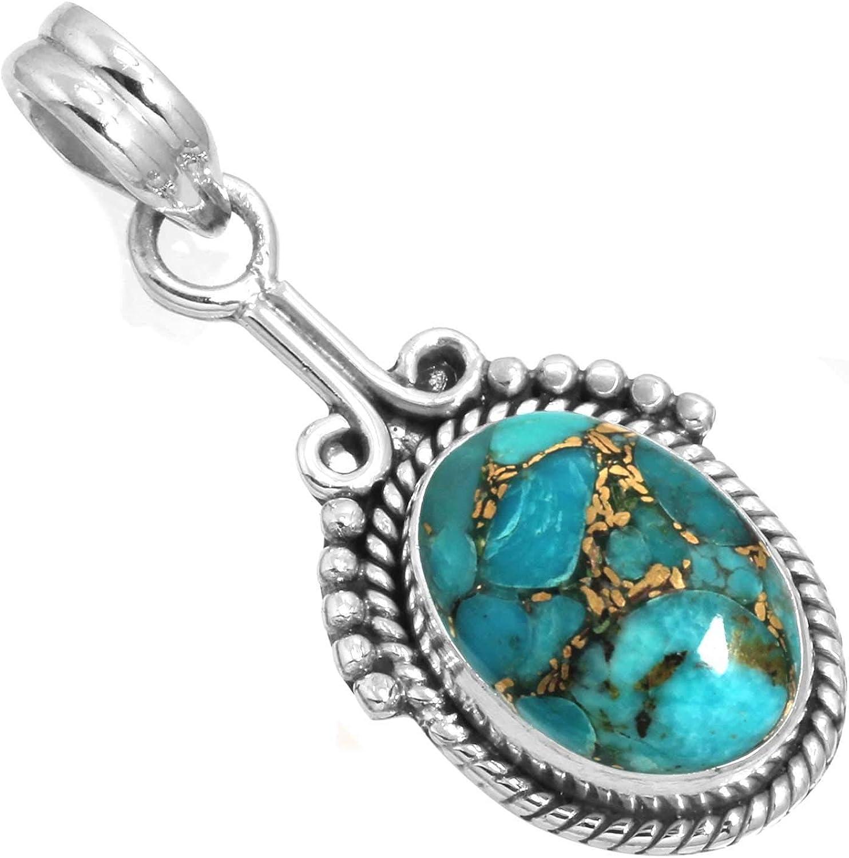 Jeweloporium Solid 925 Sterling Silver Gemstone Handmade Pendant for Women