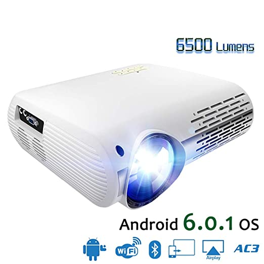 YSCCSY Proyector de 6500 lúmenes de Video para Full HD 1080p ...