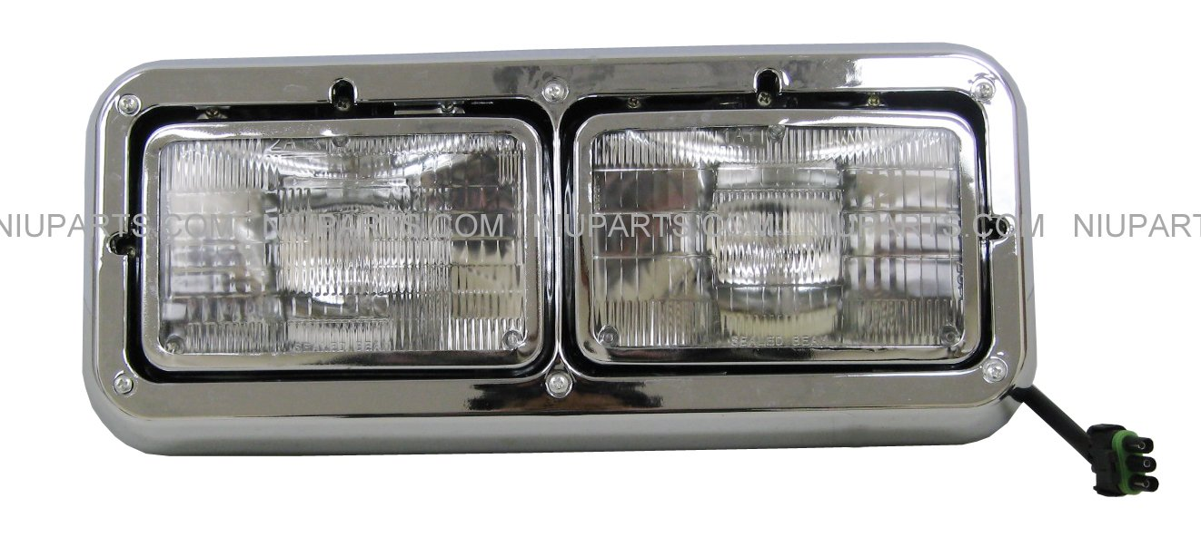 Headlight - Passenger Side (Fit: Kenworth T400 T600 T800 W900B W900L Classic 120/132. Peterbilt 378 379. Western Star 4900)