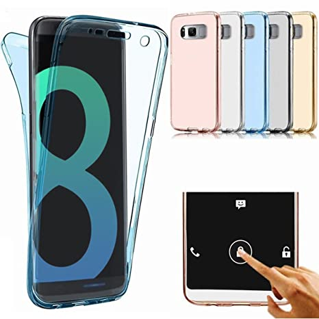 Carcasa Samsung Galaxy S8 Plus, Caso Funda Samsung Galaxy S8 Plus, JAWSEU Samsung Galaxy S8 Plus G955 Carcasa Caso Cover 360 Grados Protección ...