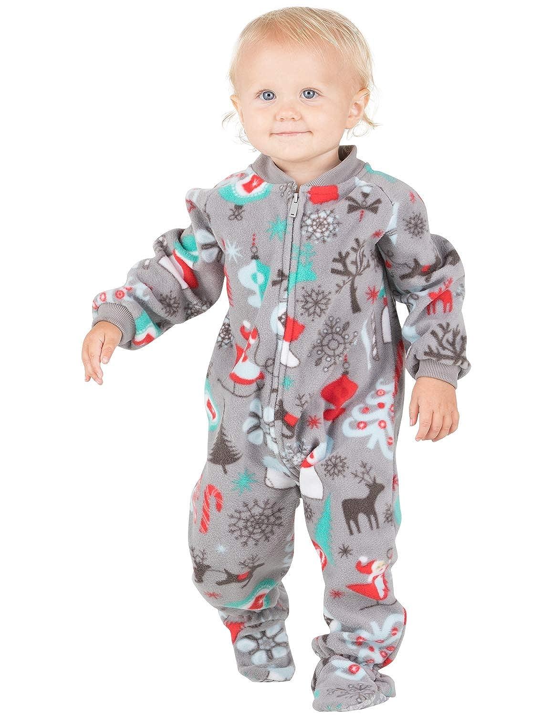 2541cb9eba08 Amazon.com  Footed Pajamas - Santa s Village Infant Fleece Onesie ...