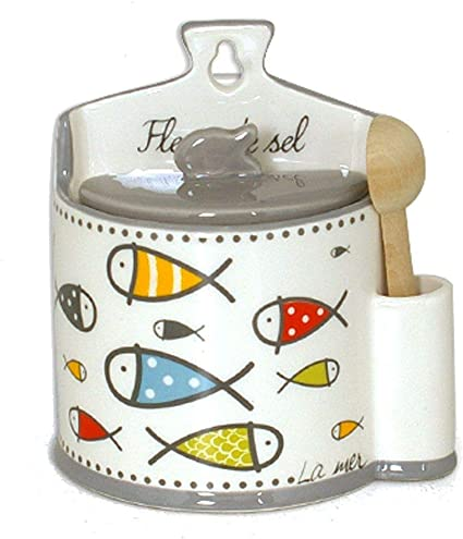 Boite à sel INAYA COLOR en céramique avec cuillère