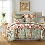 Lucky lover Luxury Quality Duvet Cover Set Queen/Full Size Lightweight Brushed Microfiber Quilt Cover European Classic Print Comforter Cover Hypoallergenic Bedding Pattern 3 by