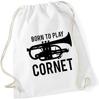 HippoWarehouse Born to Play Cornet Drawstring Cotton School Gym Kid Bag Sack 37cm x 46cm, 12 litres