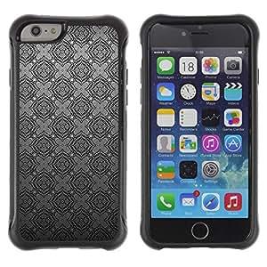 Suave TPU GEL Carcasa Funda Silicona Blando Estuche Caso de protección (para) Apple Iphone 6 PLUS 5.5 / CECELL Phone case / / Grey Silver Pattern Wallpaper /