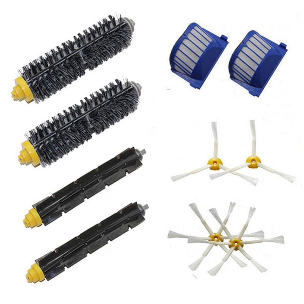 LOVE(TM)New 2 Bristle Flexible Beater 2 3- Armed Brush 2 6-Armed Brush 2 Aero Vac Filter for Robot 600 Series 610 620 625 630 650 655 660