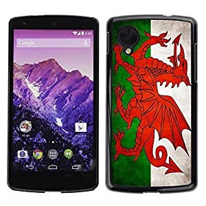 Shell-Star ( National Flag Series-Welsh ) Snap On Hard Protective Case For LG Google NEXUS 5 / E980 by rushername