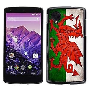 Shell-Star ( National Flag Series-Welsh ) Snap On Hard Protective Case For LG Google NEXUS 5 / E980