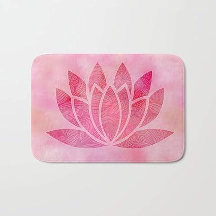 Amazoncom Suphome Zen Watercolor Lotus Flower Yoga Symbol Indoor