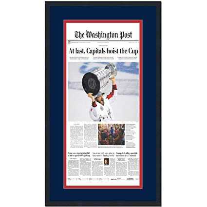 aa2487995 Image Unavailable. Image not available for. Color  Framed Washington Post  At Last Capitals 2018 Stanley Cup Champions ...