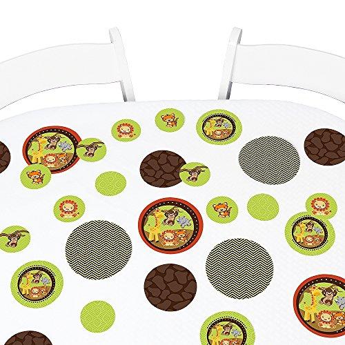 Funfari - Fun Safari Jungle - Baby Shower or Birthday Party Giant Circle Confetti - Party Decorations - Large Confetti 27 Count
