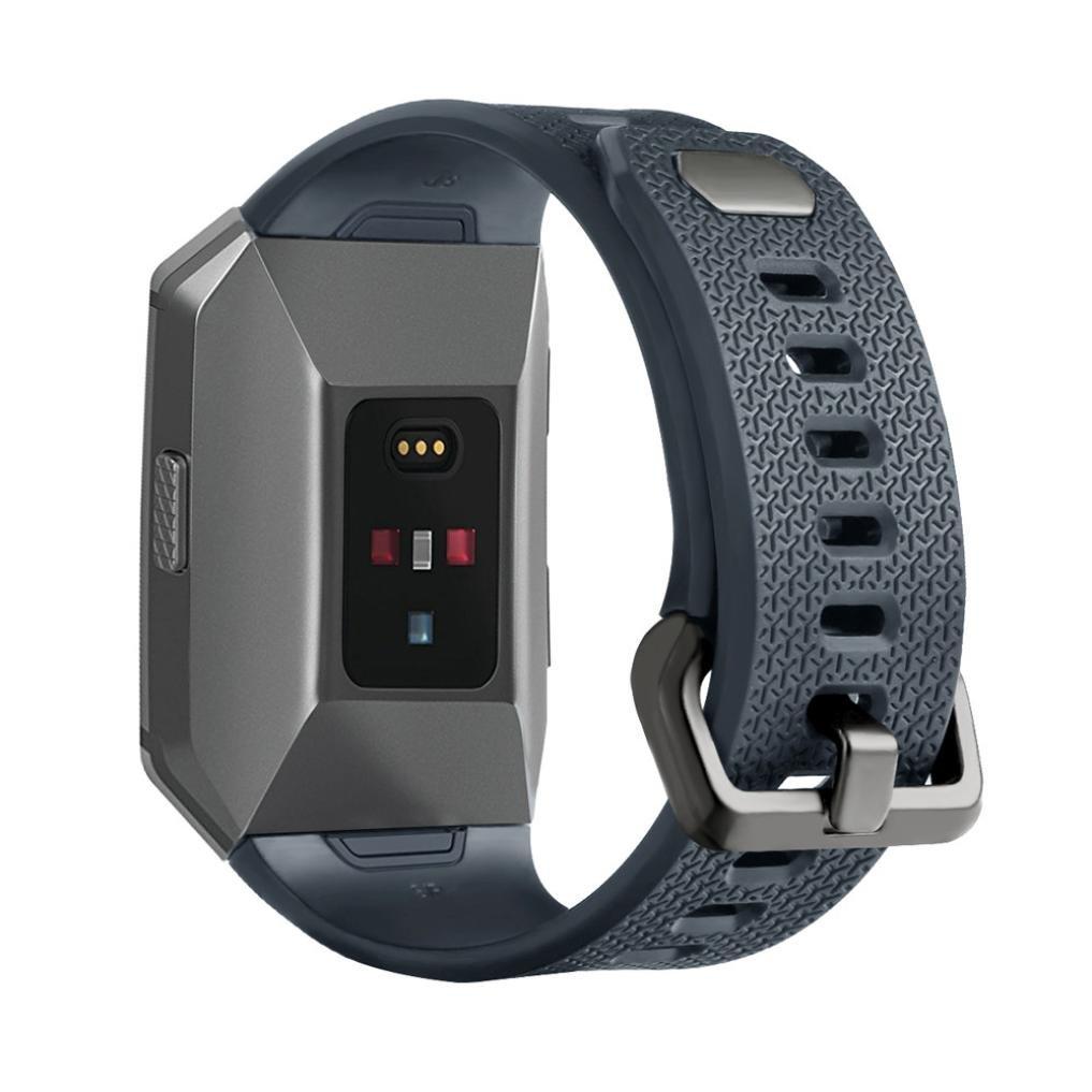 Lookatool Large交換スポーツシリコン腕時計ブレスレットストラップバンドfor Fitbit Ionic – -ストラップ長: 169 – 204 mm ブルー ブルー B0763272S6