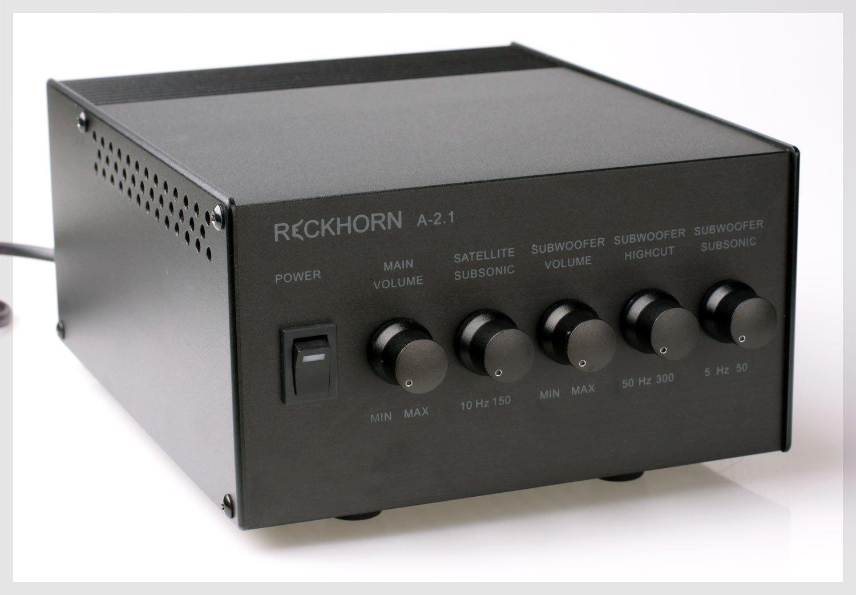 Stereo Verstä rker 2.1 Mono Subwoofer - Stereo Endstufe & Aktivweiche Reckhorn A-2.1