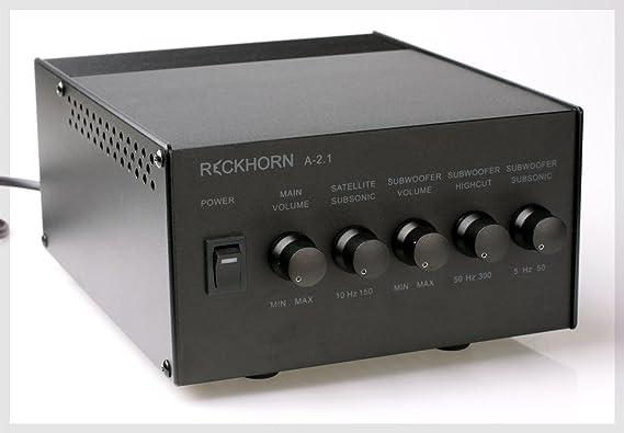 Stereo Verstärker 2.1 Mono Subwoofer - Stereo: Amazon.de: Elektronik