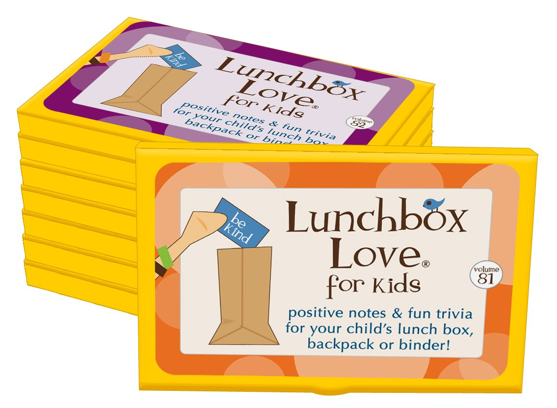 New! Lunchbox Love Notes for Kids Volumes 81-88 by Say Please. 96 positive notes with jokes & fun facts