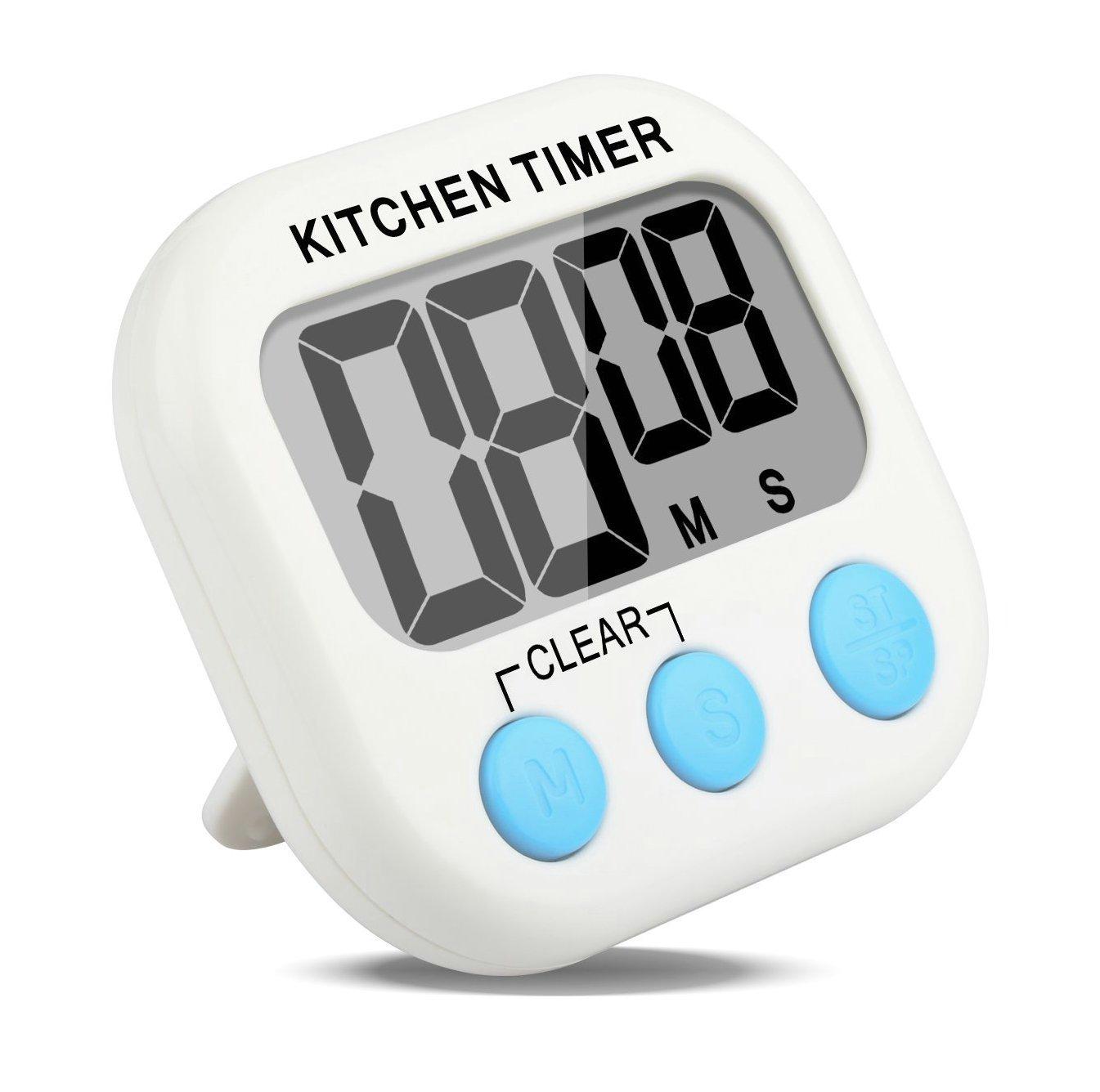 Etekcity® Temporizador Digital de Cocina con Alarma Fuerte, Imanes, Soporte Extraíble, Ajuste de Volumen y Pantalla LCD Grande, Función de Cuenta Atrás (3)