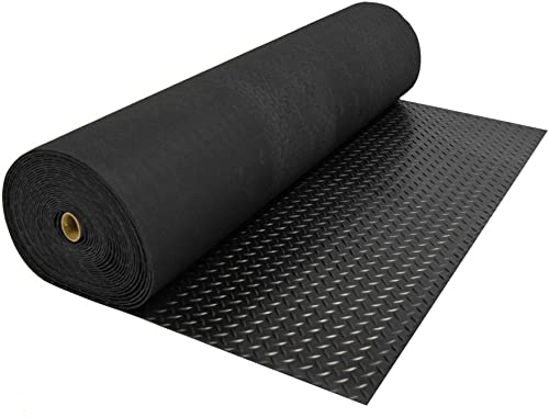 "Rubber-Cal ""Diamond Plate Rubber Flooring Rolls"