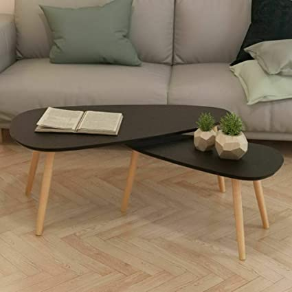 Phenomenal Amazon Com Mikash Solid Wooden Coffee Table Set 2 Piece Squirreltailoven Fun Painted Chair Ideas Images Squirreltailovenorg