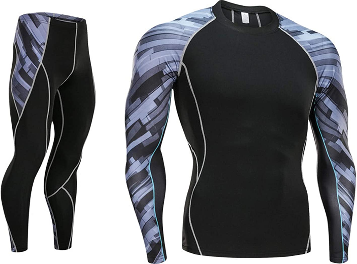 Ladies Compression Top Long Sleeve Base Layer Running Gym Training Tights Set