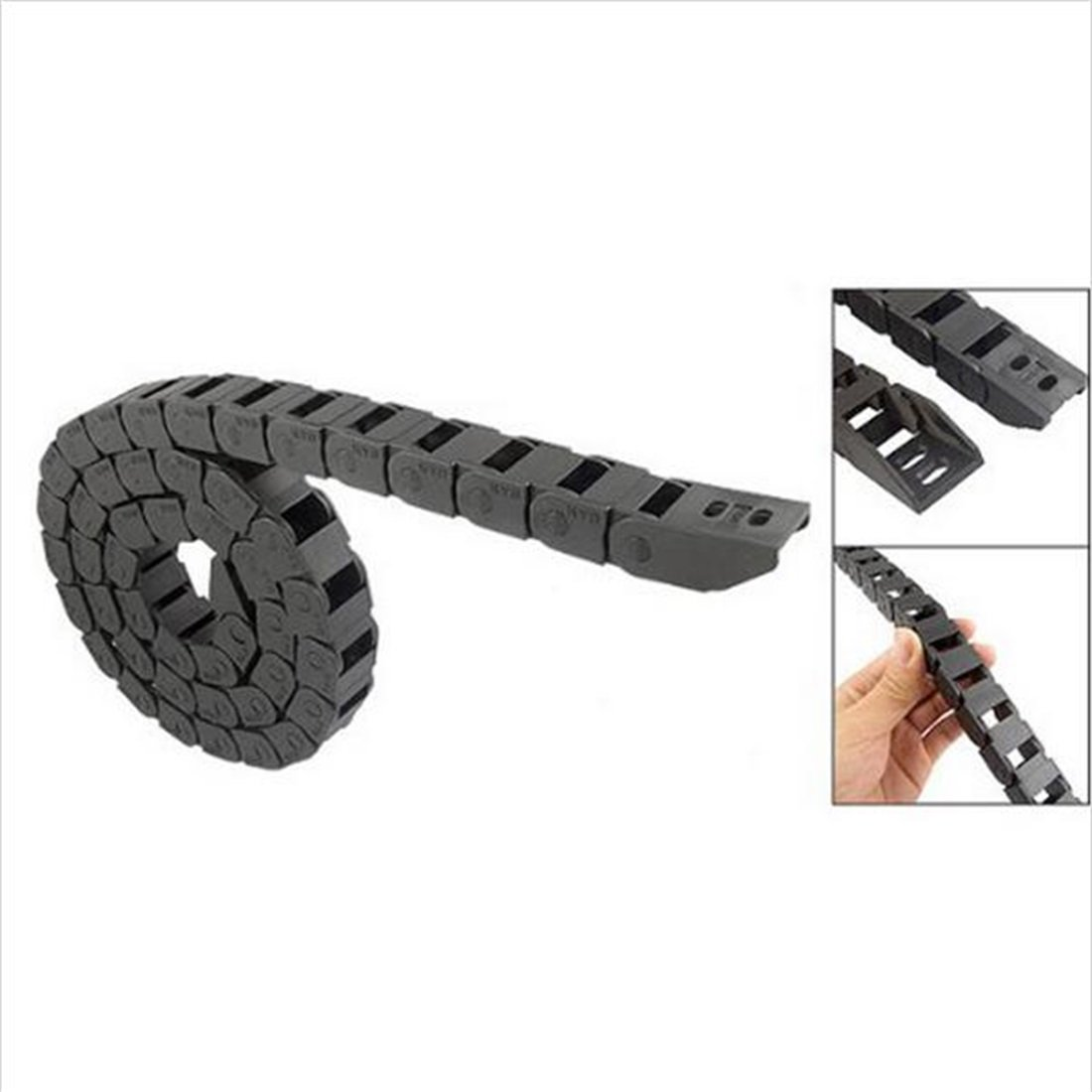 15 x 20 mm R28 Plastic Cable Drag Chain For CNC Machine Inside diameter not open cover