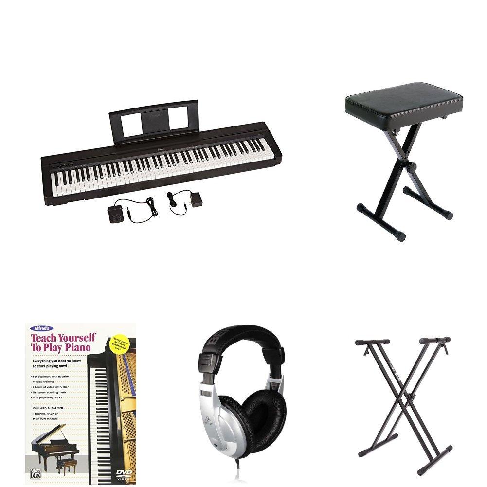 Amazon.com: Yamaha P-45 Piano digital Bundle con banco ...