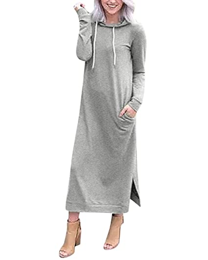 Ladies Loose Hoodie Sweatshirt Hooded Hoody Coat Sweater Tops Jumper Pullover UK