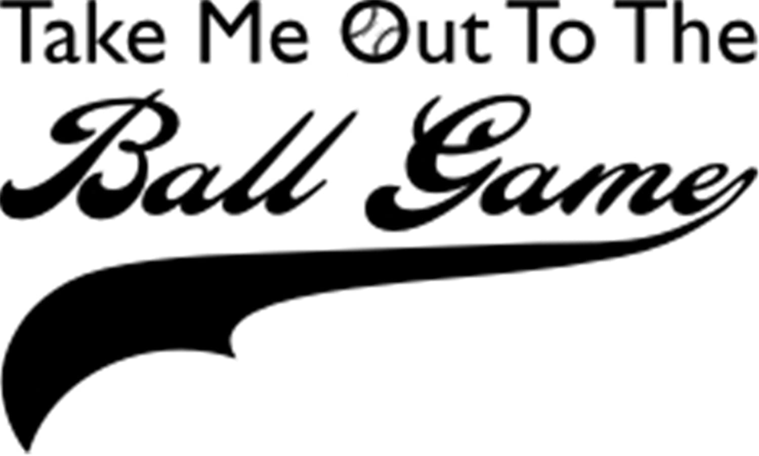 Vinyl Wall Lettering Stickers Quotes And Saying Take Me Out To The Ball Game For Playroom Nursery Kids Room Boys Room