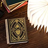 Versatile 360 Degree Book Light in The Theme of Harry Potter Book of Spells (Hufflepuff Black, Large Size White Light)
