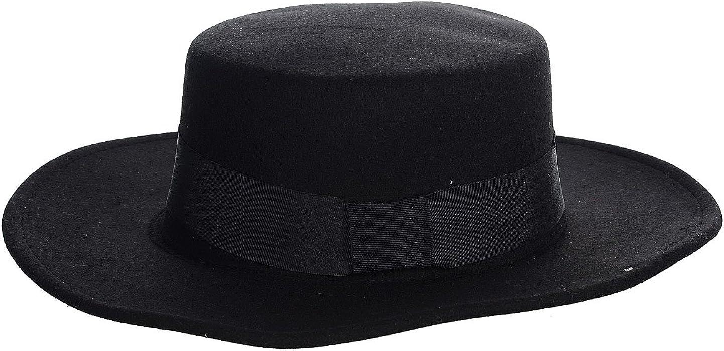 Amazon.com  AVOLUTION Vintage Cap Flat Top Wide Brim Round Headgear ... 64c10bcb2b2