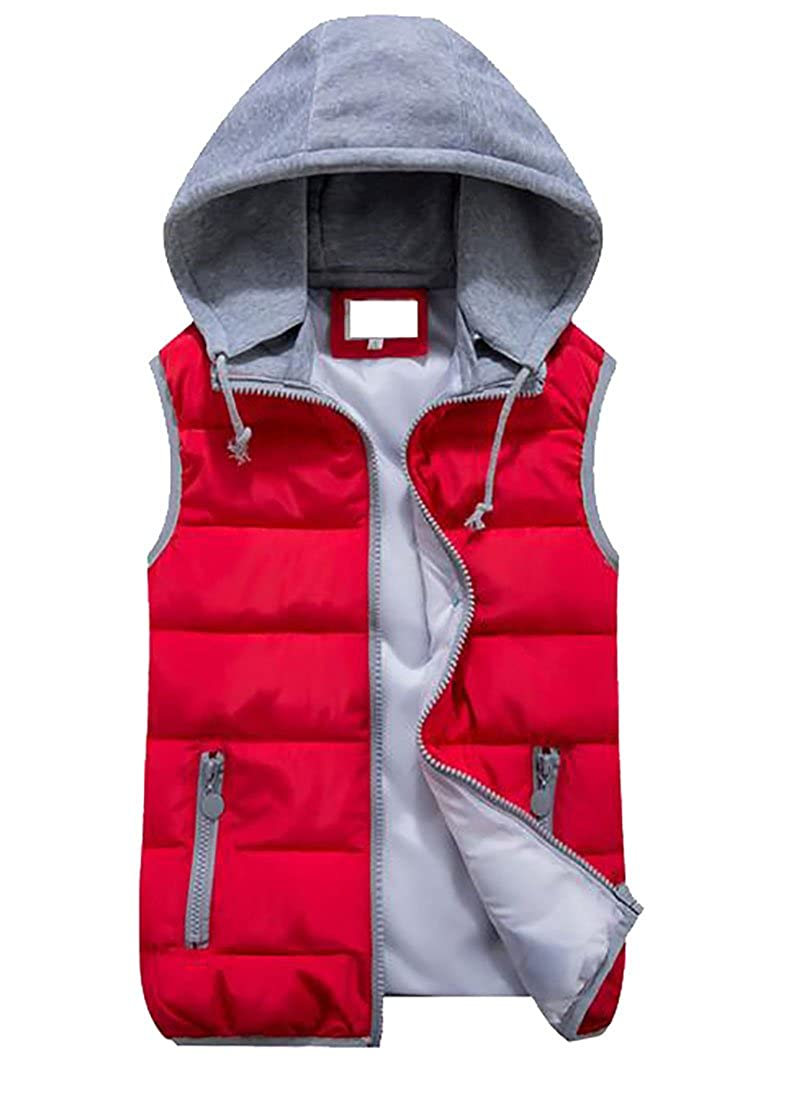 Cruiize Women's Waistcoat Classic Fit Hooded Quilted Down Vest Coat