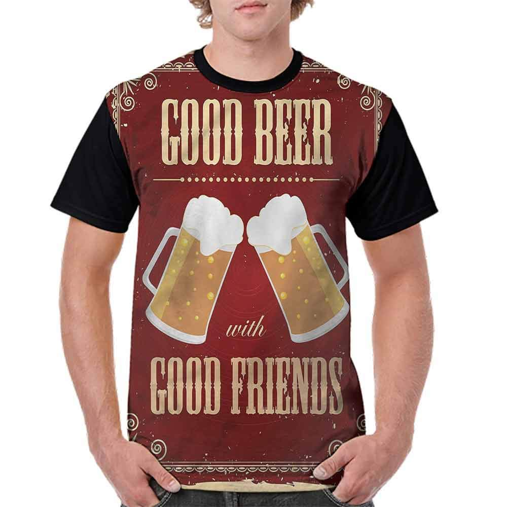 Loose T Shirt,Friends in Good Times Fashion Personality Customization