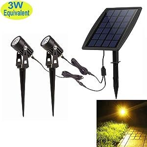 DINGLILIGHTING LED Solar Landscape Spotlights