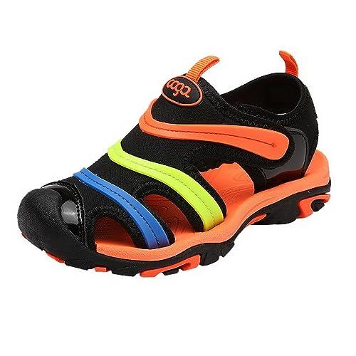 énorme réduction joli design hot-vente dernier Evedaily Sandales Mixte Enfant Sandalettes Bout Fermé Chaussure Sport Été  Plage Marche pour Garçon Fille