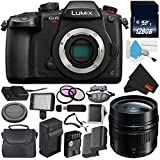 Panasonic Lumix DC-GH5S Mirrorless Micro Four Thirds Digital Camera International Version (No Warranty) + Panasonic Leica DG Summilux 12mm Lens + 128GB Class 10 Memory Card Bundle