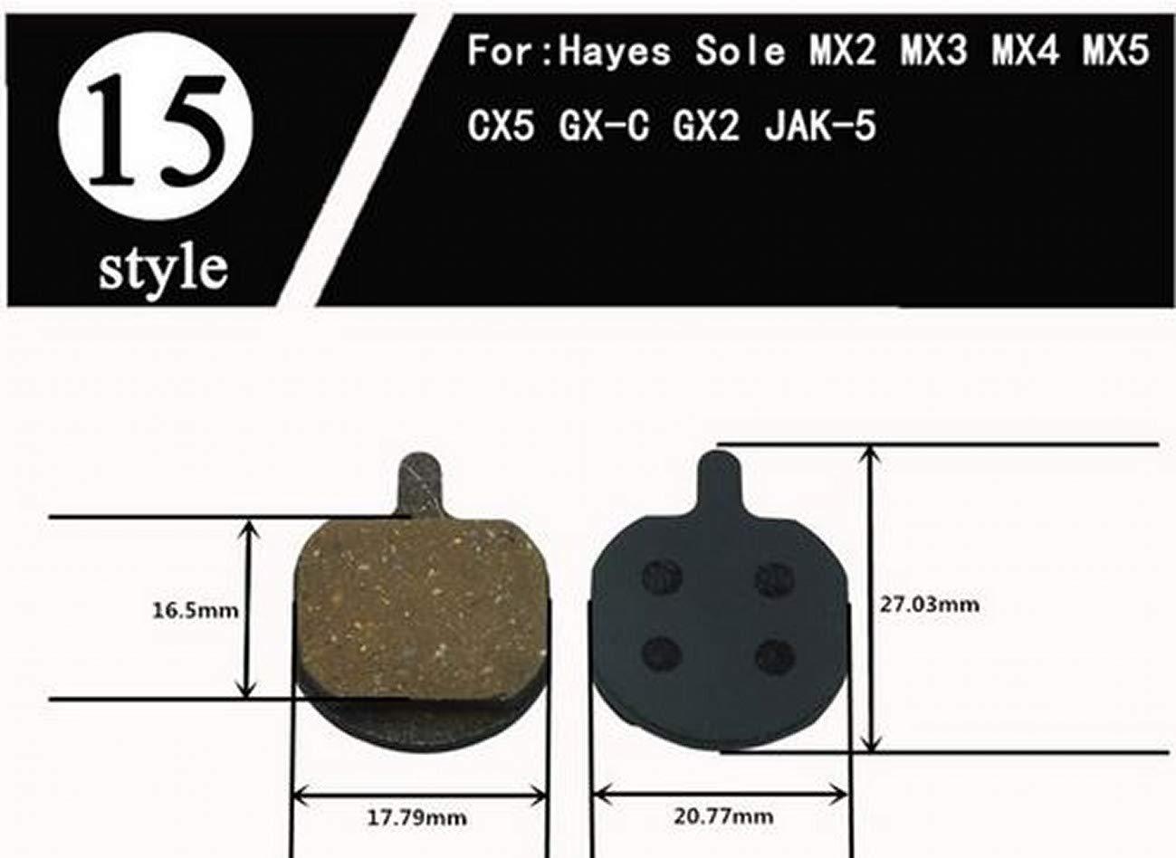 ARUNDEL SERVICES EU 2 Pares de Pastillas de Freno para Bicicleta de monta/ña para Hayes Sole MX2 MX3 MX4 CX5 GX-C GX2 Jak-5 Pastillas de Freno Almohadillas de Disco Bicicleta Frenos