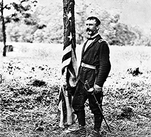 Chickahominy River, VA - Gen. Andrew Humphrey in the Field Civil War Photograph (12x18 SIGNED Print Master Art Print w/Certificate of Authenticity - Wall Decor Travel Poster)