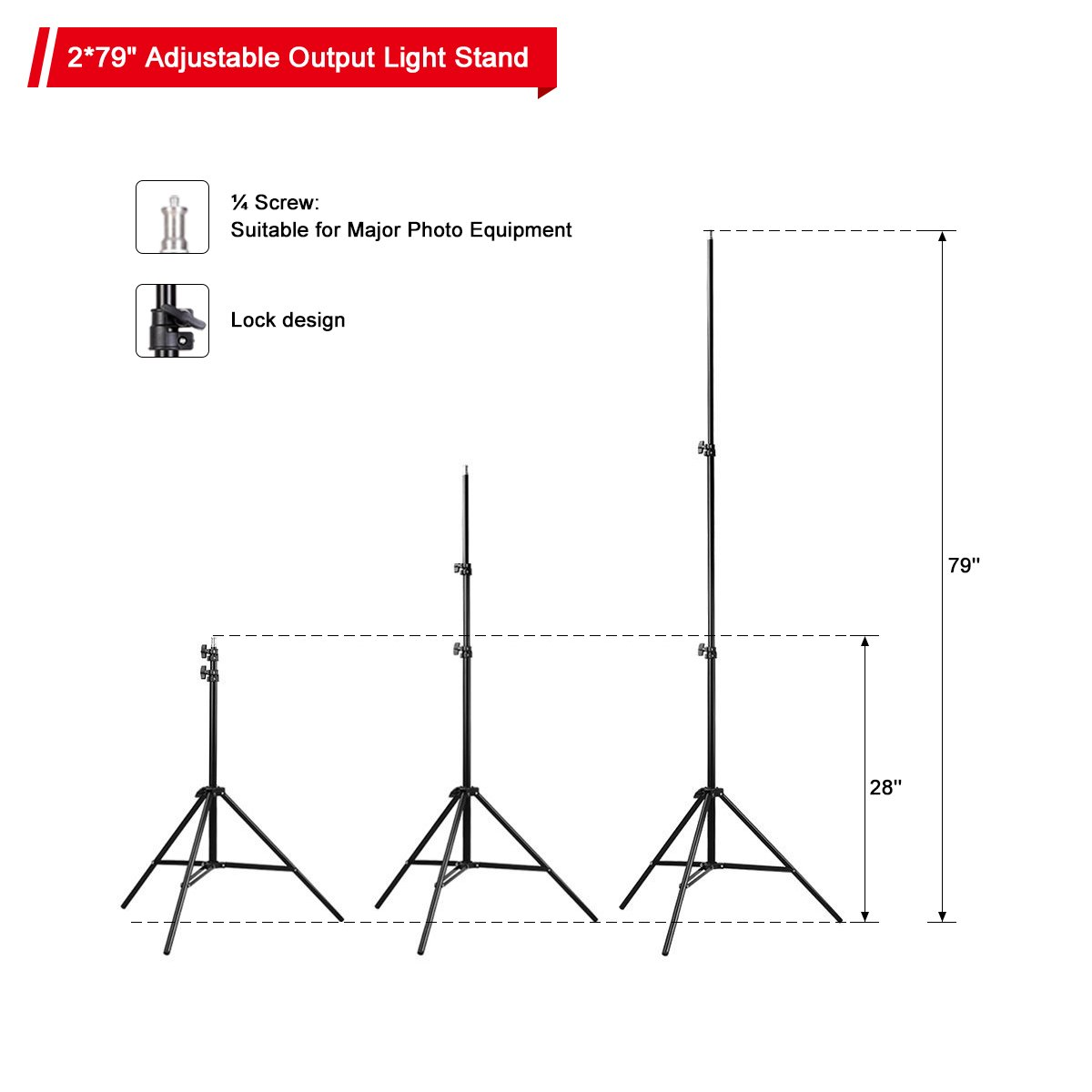 Belle Max (2)20''x28''Photography Softbox Lighting Kit Photo Studio Equipment,Including (2) 28W LED Bulbs,(1)24'' 2-in-1Reflector, Ideal for any vlog, portrait, costume and object photography by Belle Max (Image #4)