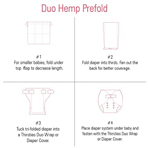 Image: Duo Hemp Prefold Instructions