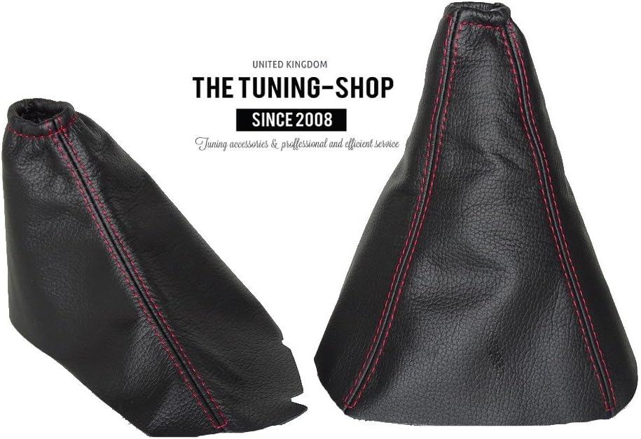 The Tuning-Shop Ltd E Brake Boot for Kia Sorento 2002-2006 Leather Red Stitching