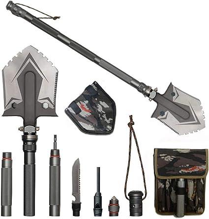 Folding Shovel Spade Stainless Steel for Multi-functional Fishing Portable