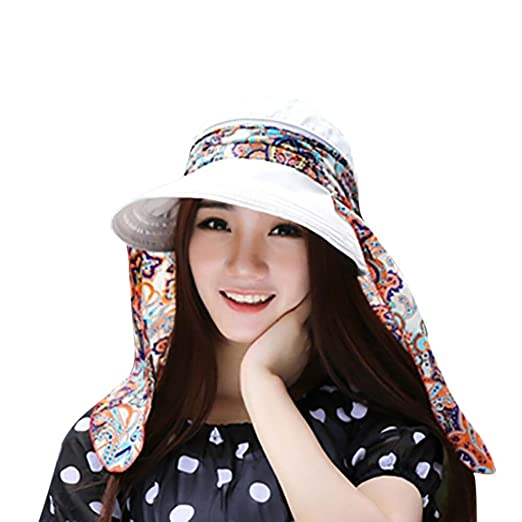 CSSD Ladies Fashion Holiday Visor Windproof Hat Summer Sun Beach Foldable  Roll Up Wide Brim Caps 9b5af702d0f