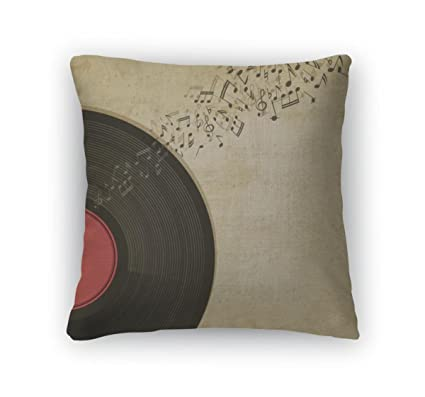 Amazoncom Gear New Vintage With Vinyl Record Throw Pillow With