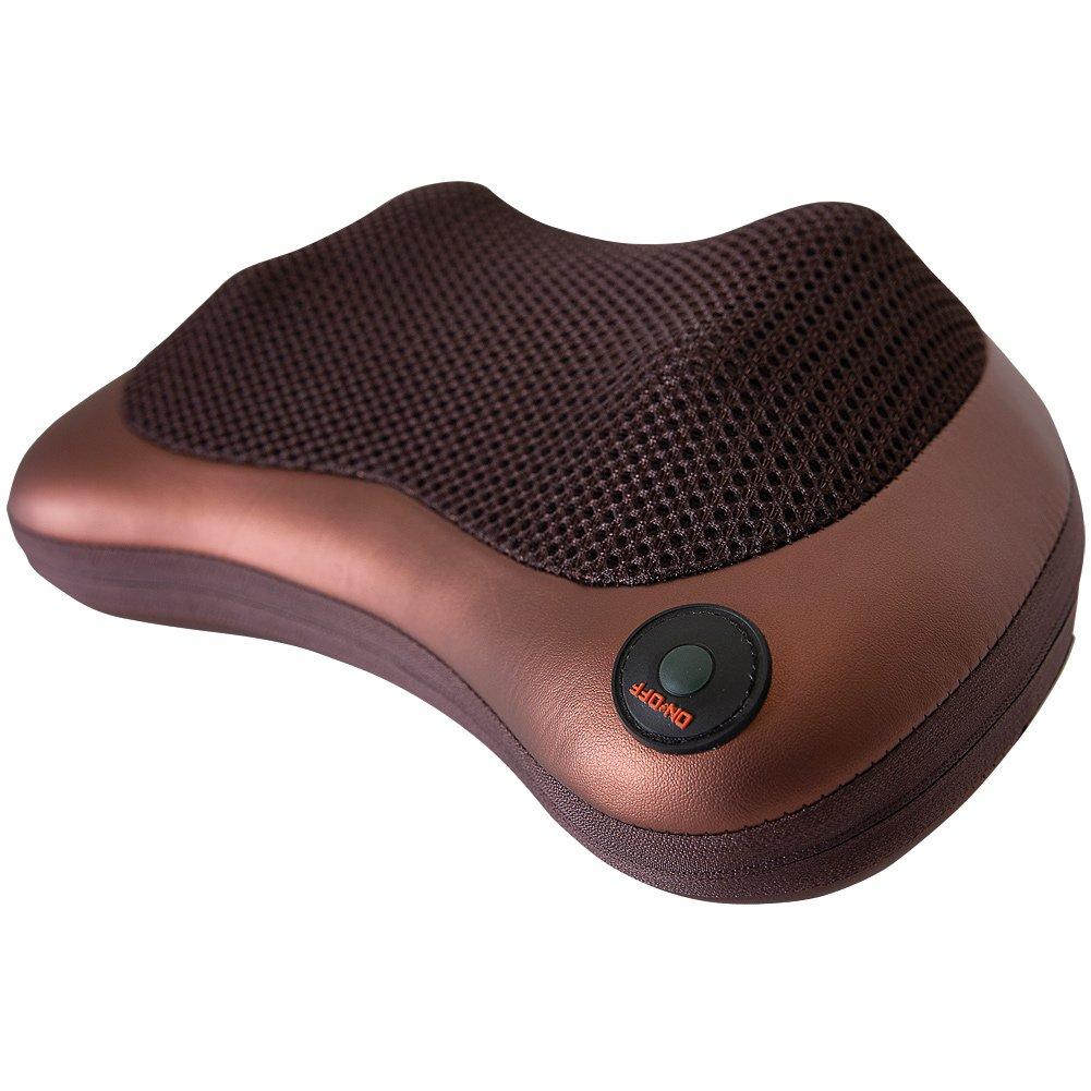 指圧マッサージ枕viakyネックBackマッサージwith for肩脚足とフルボディPain Relief、ストレスリラックスホームオフィスat、車 Heat、深いKneading B0785QK9QV