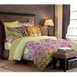 Bombay Dyeing Celebrating India 100%Cotton Double Bedsheet with 2 Pillow Covers-Yellow