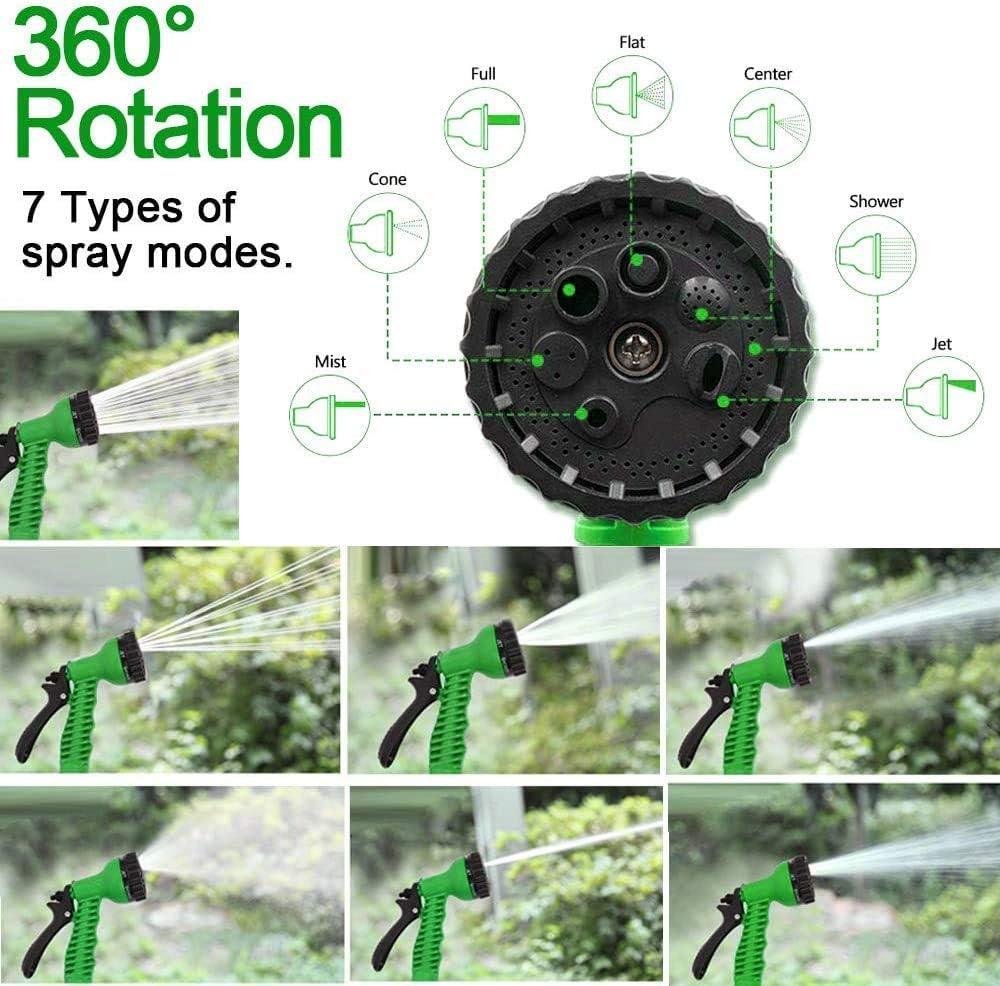 SLRMKK Garden Hose, 25FT-150FT Garden Hose Expandable Magic Flexible Water Hose Plastic Hoses Pipe With Nozzle To Watering,125FT(37.5M) 75ft(22.5m)